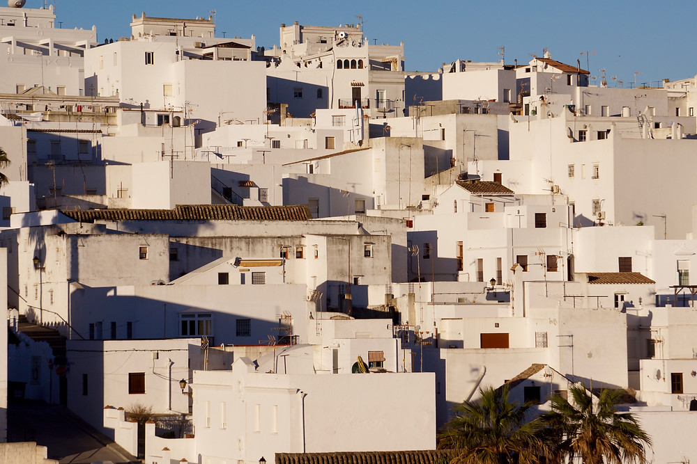 Casa Colina Blanca area before the tall chimney and new arch window were fitted. Vejer.