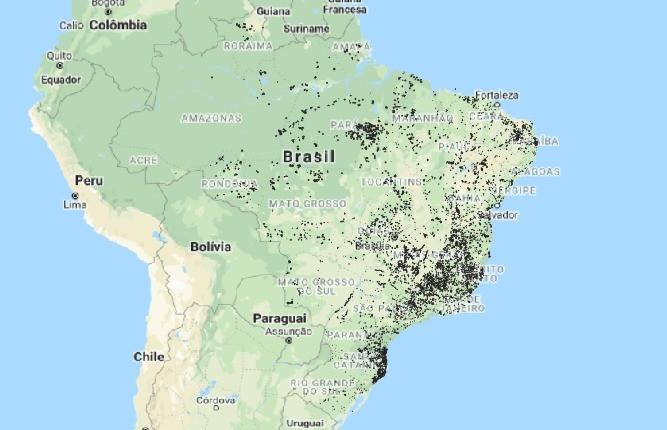 Localização de 10.678 áreas em fase de disponibilidade.
