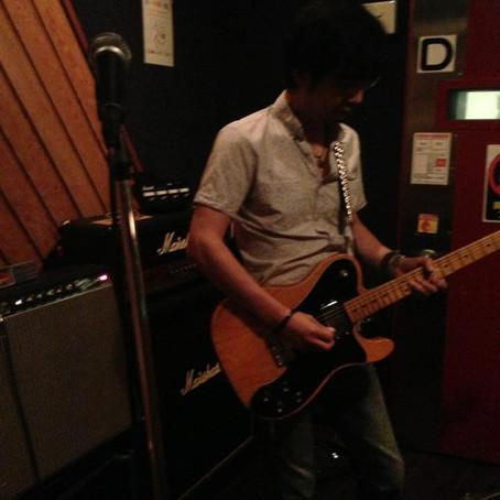 スタジオで練習