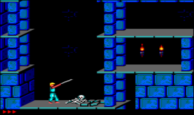 Prince of Persia on the Amstrad CPC 464
