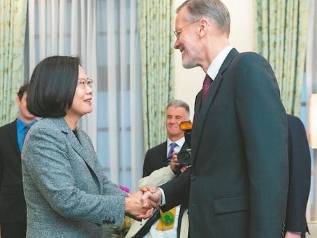 總統談台美關係 升級全球合作夥伴
