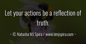 Let your actions...