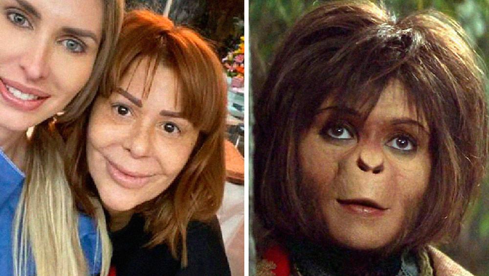 Alejandra Guzmán comparada con un chango.
