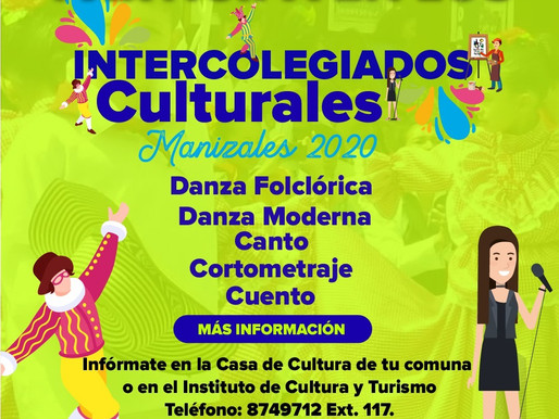 INTERCOLEGIADOS CULTURALES 2020, AMPLÍA PLAZO DE INSCRIPCIONES