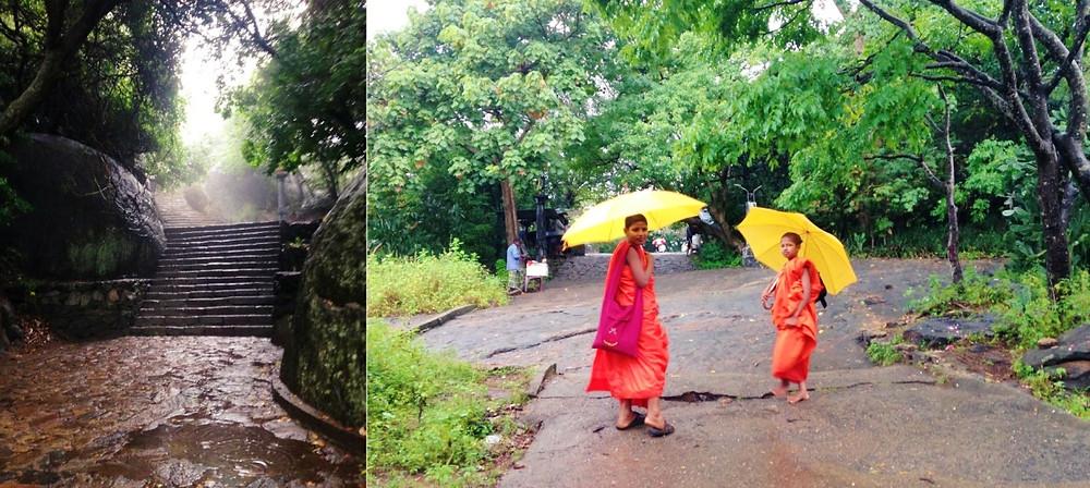 Marches grottes de Dambulla au Sri Lanka
