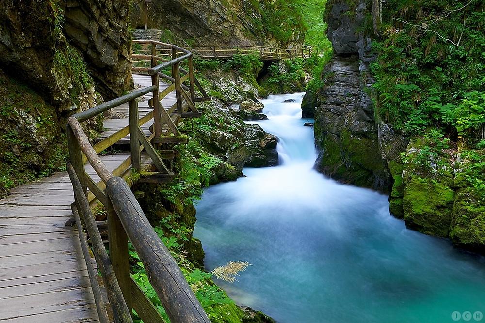 pont vintgar gorge slovénie