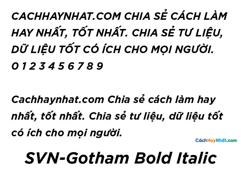 SVN-Gotham Bold Italic