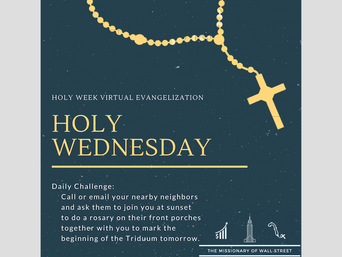 "Holy Wednesday Virtual Quarantine Challenge: ""Hail Mary, Full of Grace"""