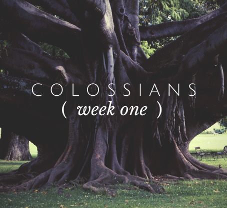Colossians | Week One