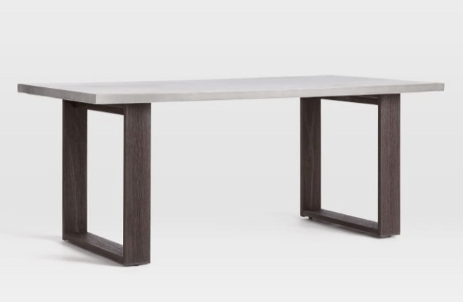 Sustainable Design - FSC Certified Wood Furniture - West Elm Concrete Outdoor Dining Table