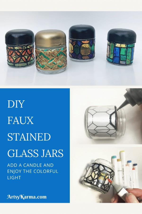 How do you make stained glass jars?