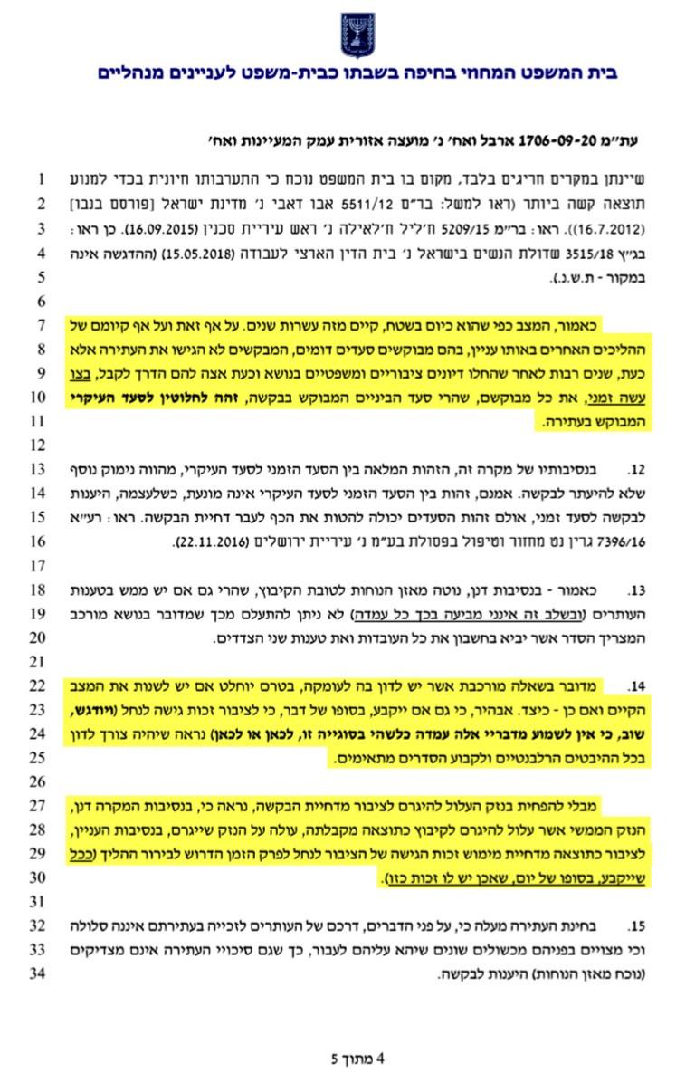 בית המשפט המחוזי בחיפה דחה את הבקשה למתן צו ביניים לפתיחת השער באופן גורף