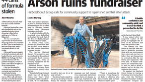 Arson ruins fundraiser Harbord Scout Group calls for community support to repair shed and hall after