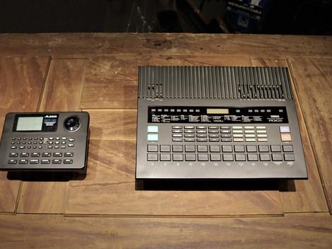 Såld, Begagnad Yamaha RX-5 samt en Alesis SR-16: 1999:- respektive 999:- /st