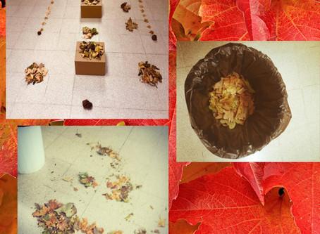 """Actividad lúdica del """"otoño"""" realizada por nuestros peques de 1-2 años"""