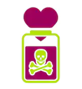 love heart in a toxic jar