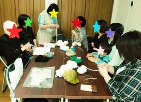 ワークショップ報告「毛糸の帽子作り」