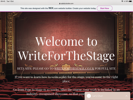 Beta testing new WriteForTheStage website (& a brief review of first night of Development Week 13)