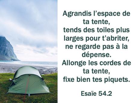 Agrandis l'espace de ta tente
