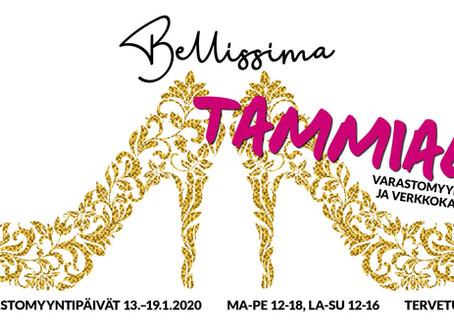 Bellissiman kenkien varastomyynti 13.-19.1.2020