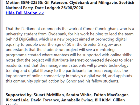 We'd Like to thank Gil Paterson & Co for their support for our project