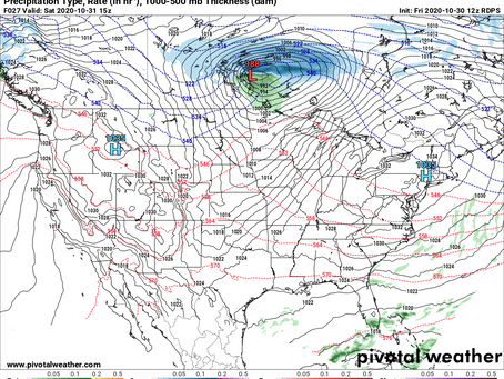 Alberta Clipper to Bring Snow for Northern Prairies; Warmer Weather on the Way Next Week