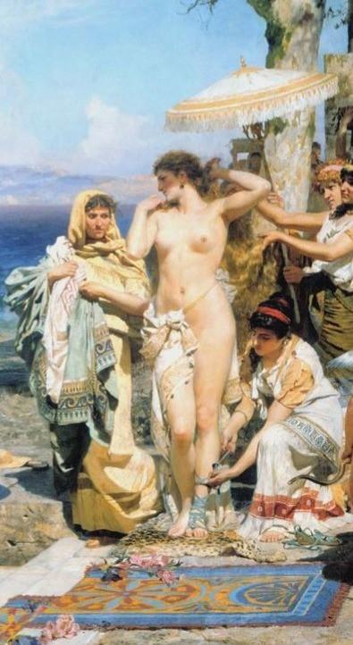 Detail from Painting By Henryk Siemiradzki,