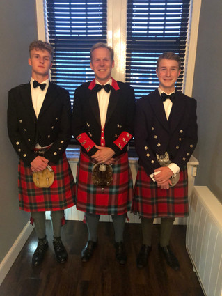 Heading to the Oban Ball