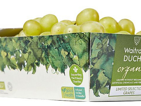DS Smith helps Waitrose launch UK's first cardboard grape punnets