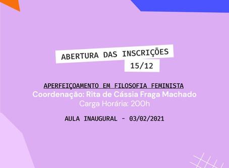 APERFEIÇOAMENTO EM FILOSOFIA FEMINISTA