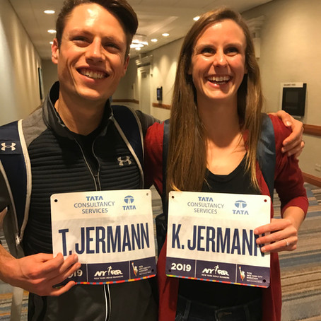 Katy Jermann 14th in a PR of 2:31,Tyler Jermann Finishes 18th at TCS New York City Marathon 11/3