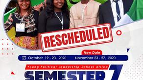 YPLS Africa Semester Seven (7) Training to Commence November 23, 2020