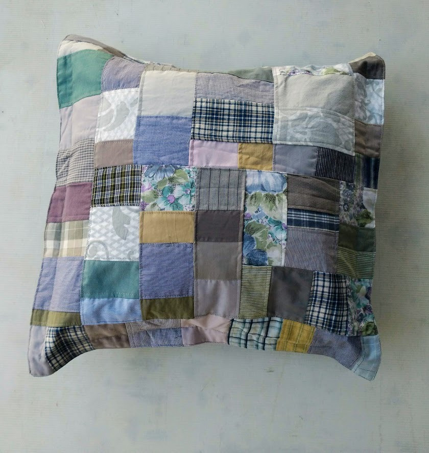 Quilted winter pillow