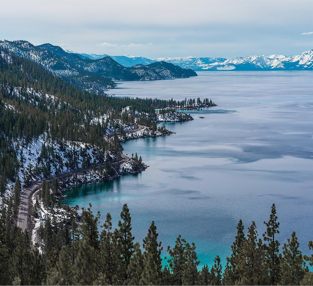 Winter views of Lake Tahoe