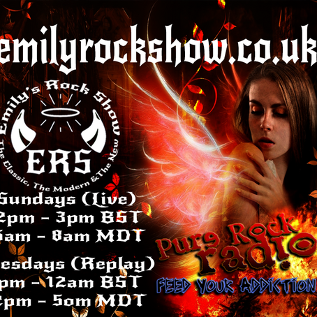 This Week On Emily's Rock Show (08/16 + 08/18)