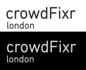 crowdFixr black and white logo