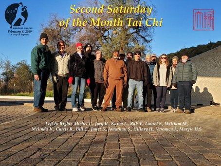 February 8, 2020 Second Saturday of the Month Tai Chi