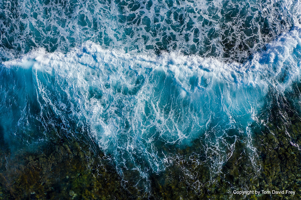 Ocean waves from above, Aerial Drone Photo by Tom David Frey, captured with DJI Mavic 2 Zoom