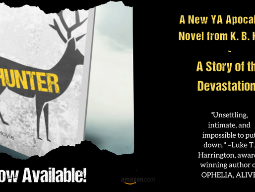 Check out K.B.'s new book, Hunter!