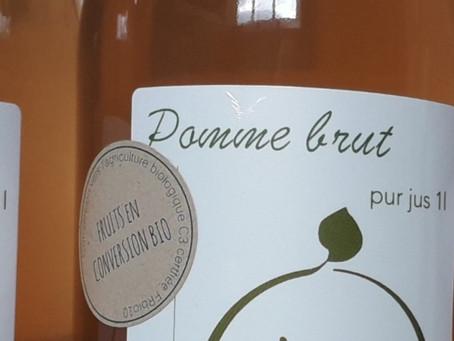 """Nouveauté : Jus pomme """"Bio"""" (C3)"""