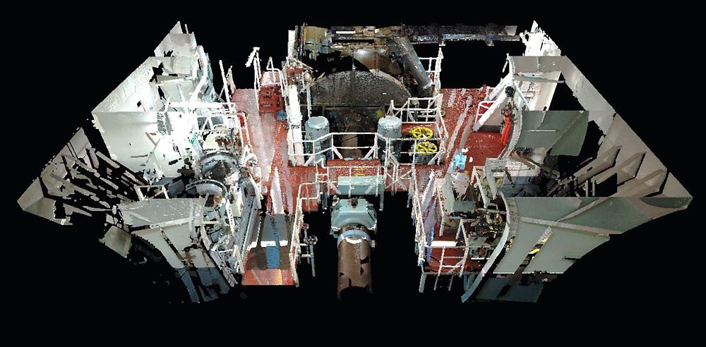 3D Laser scanning in shipbuilding, BWTS, Spain