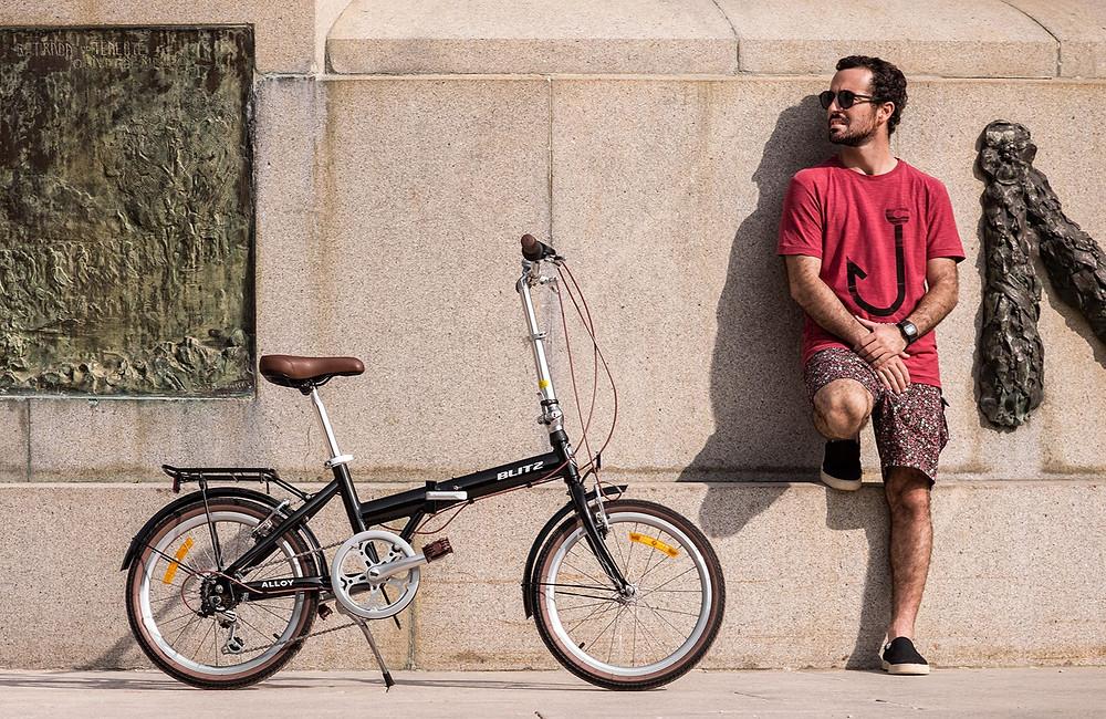 Bicicleta dobrável BLITZ Alloy preta
