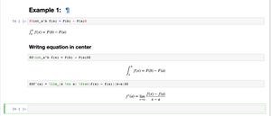 Syntax for  writing mathematical notation in Jupyter notebook