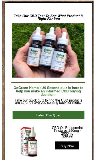go green hemp personalization