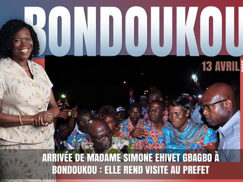 ARRIVÉE DE MADAME SIMONE EHIVET GBAGBO À BONDOUKOU : ELLE REND VISITE AU PREFET