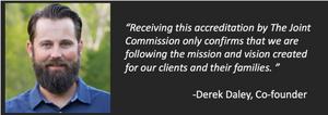 Derek Daley, Joint Commision, Addiction Treatment
