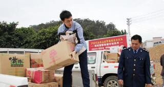 新疆以环保回收方式集中销毁1400万元假冒伪劣商品