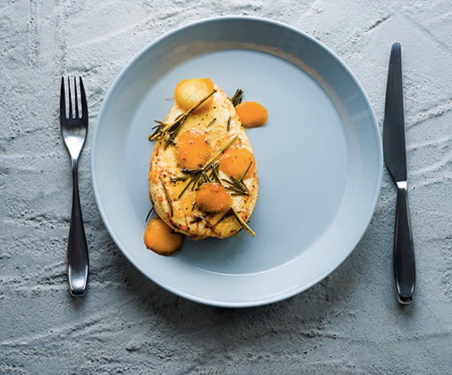keptas varškės sūris su apelsinais ir rozmarinais, Alfo receptai, vmg receptai, baltas sūris