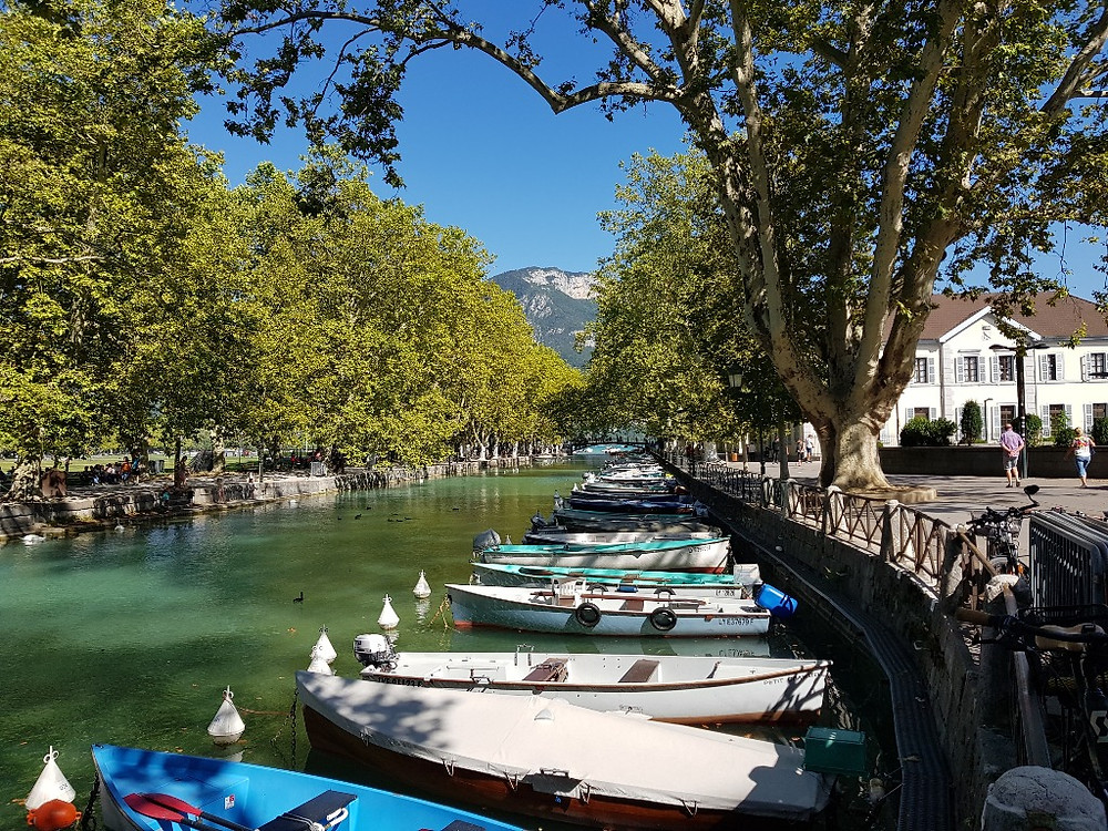 Canals of Lake Annecy