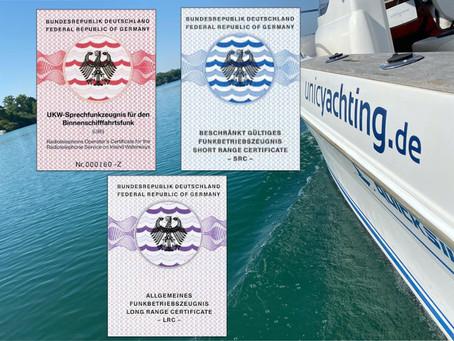 Die 3 Lizenzen für den Funkverkehr auf dem Wasser - welche sind das?